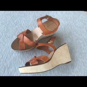 J. Crew Leather Wedges, Size 11